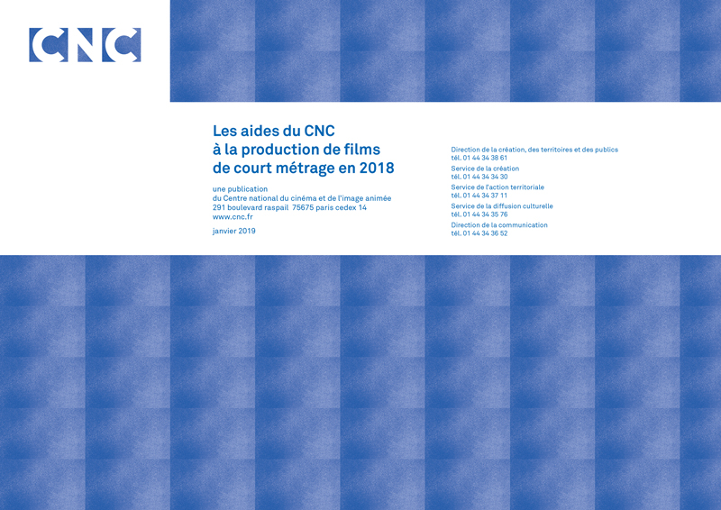Les aides du CNC à la production de films de court métrage en 2018