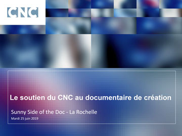 Présentation CNC au Sunny side of the Doc